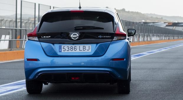 La Nissan Leaf e+ in pista