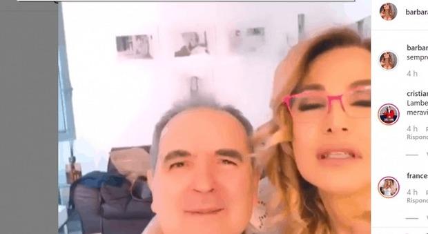 Barbara D'Urso e il video con Lamberto Sposini che commuove i fan