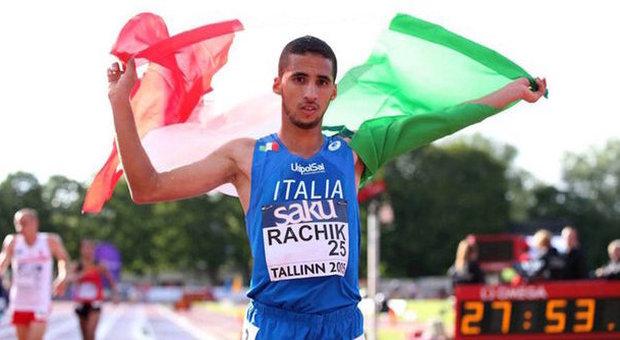 L'immagine di Yassine Rachick agli europei under 23 2015 dove ha conquistato il bronzo nei 10.000