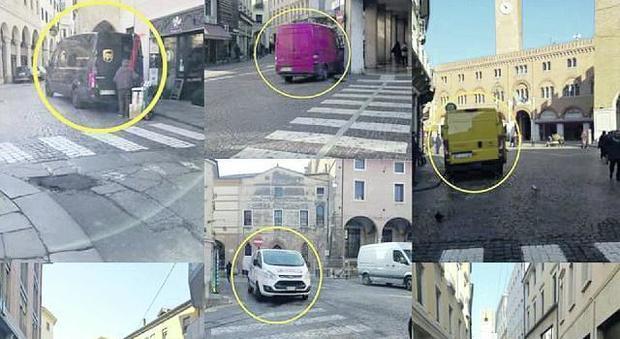 Ztl in centro a Treviso, l'invasione dei furgoni che scaricano merci