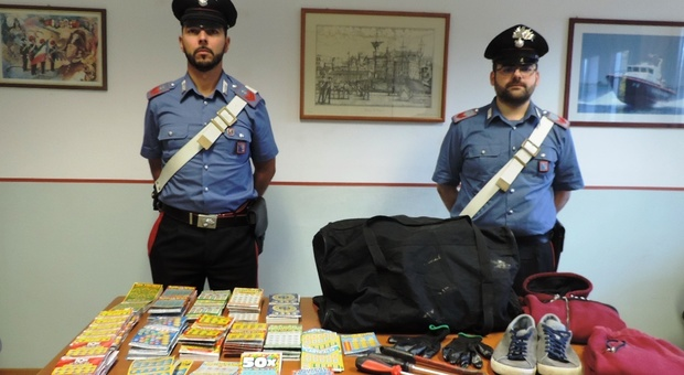 La refurtiva recuperata dai carabinieri