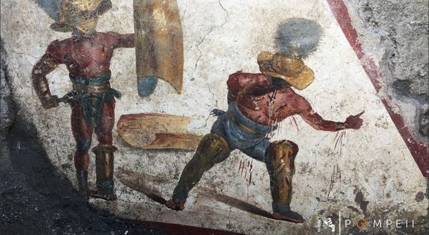 Pompei, nuova eccezionale scoperta: ritrovato l'affresco dei Gladiatori Combattenti