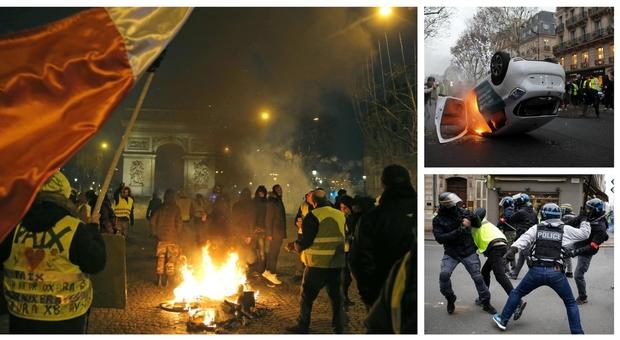 Gilet gialli, scontri in tutta la Francia: ruspa sfonda gli uffici del governo
