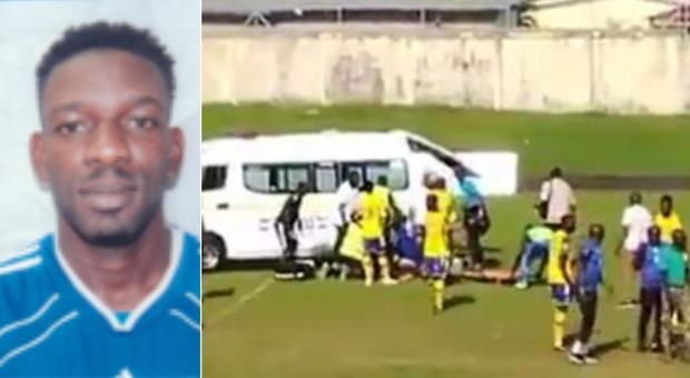 Calciatore muore per un infarto, dramma sul campo di gioco: Tsinga aveva 30 anni
