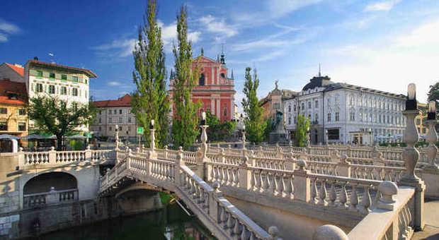 Il centro di Ljubljana