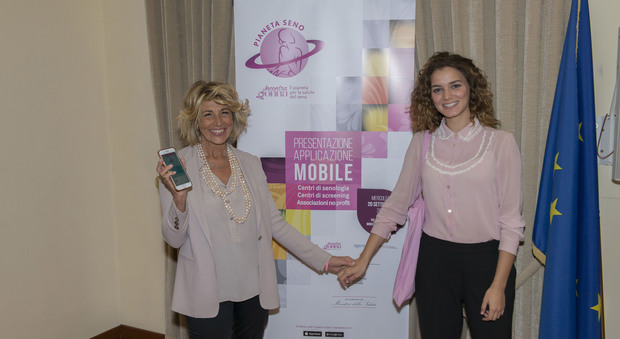Giusy Buscemi madrina dell'app per la salute del seno