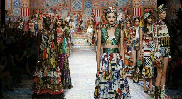 Dolce&Gabbana patchwork a Milano: la collezione-riciclo alla Fashion Week