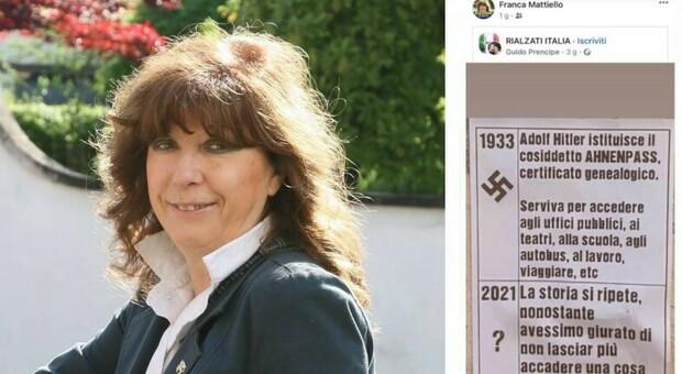 Franca Mattiello e il post in Facebook