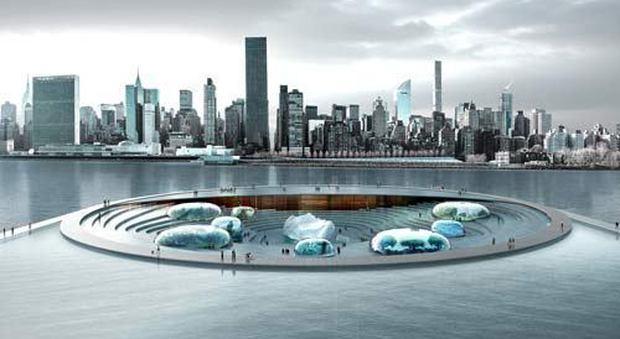 L'Aquatrium il progetto del nuovo acquario di New York a firma italiana