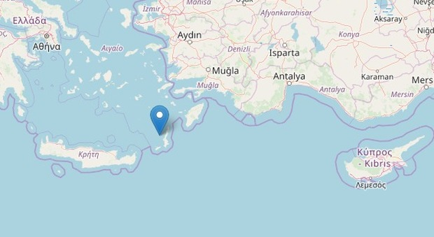 Terremoto di magnitudo 5.1 a Creta avvertito anche in Turchia