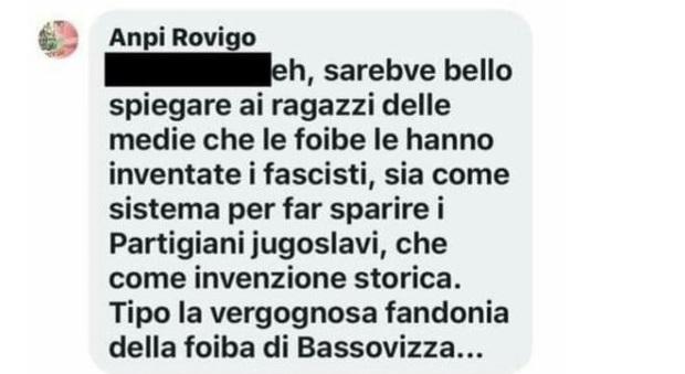 Il  post dell'Anpi Rovigo