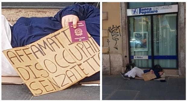 """""""Prima gli italiani"""" anche nell'elemosina: chiede la carità in centro a Roma esibendo il passaporto"""
