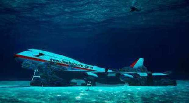 In Bahrein apre il parco marino più grande del mondo con tanto di vero Boeing sui fondali