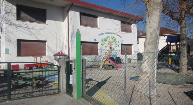 L'asilo di Cergnai di Santa Giustina dove Erostrato ha spedito il sacchetto di caramelle con gli spilli