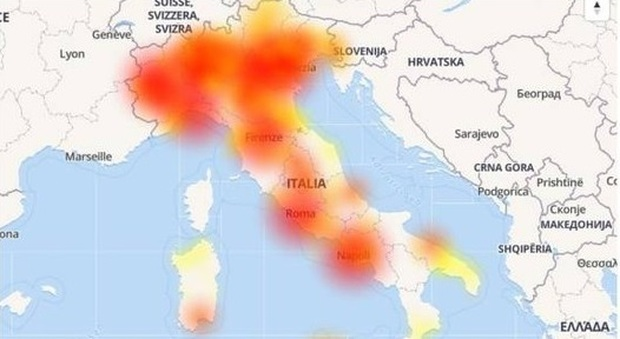 Rete 3 down in tutta Italia, problemi soprattutto al Nord. Utenti su tutte le furie
