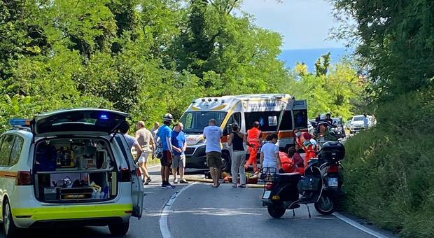 L'incidente in cui è rimasta ferita Laura Campanella, sulla provinciale del Conero vicino alla Vedova