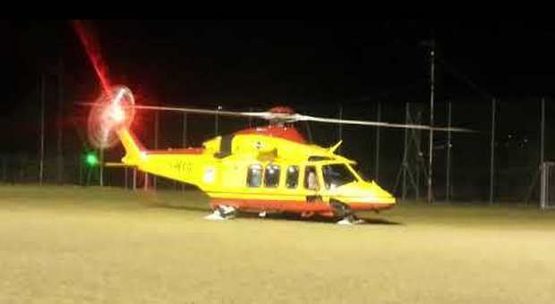 L'elicottero del 118 di Como