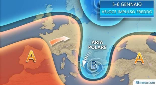 Il grafico delle previsioni di 3bmeteo.com.