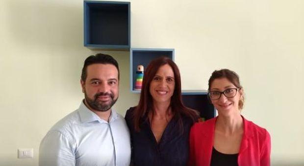 Monica Lozzi e i due assessori Giuseppe Commisso e Veronica Mammì