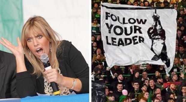 Alessandra Mussolini, la «ducefobia» deve essere un reato: la proposta dopo lo striscione in Celtic-Lazio