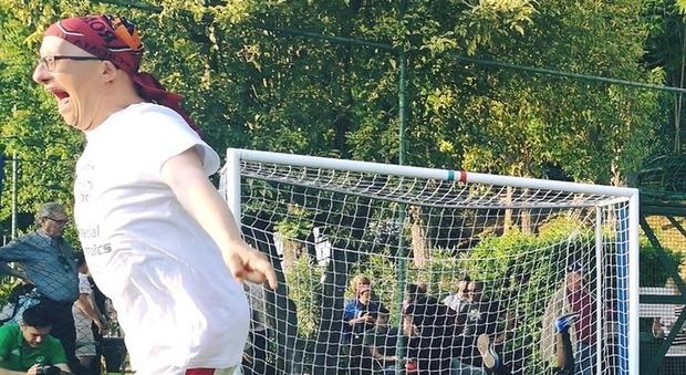 Andrea Ceci esulta dopo un gol