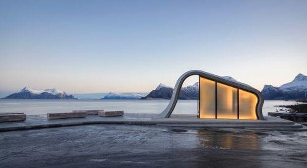 Tra i fiordi e l'aurora boreale: ecco l'area di sosta più bella del mondo