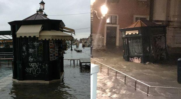 Venezia, edicola spazzata via dal mare. Il titolare: «Temevo di morire». Raccolti online 16mila euro