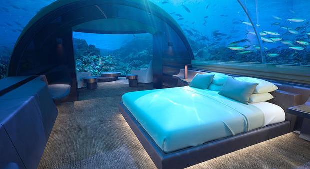 La villa sottomarina alle Maldive