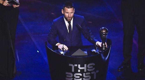 La premiazione di Leo Messi