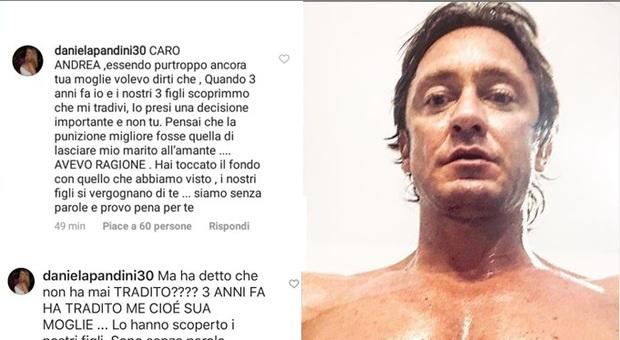 Temptation Island Vip 2, sui social spunta la moglie di Andrea Ippoliti: «Tre anni fa mi hai tradita. I tuoi figli si vergognano di te»