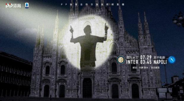 Messi proiettato sul Duomo (Twitter)