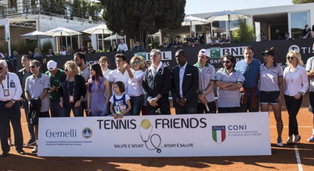 Prevenzione e terra rossa, al Foro Italico torna Tennis & Friends