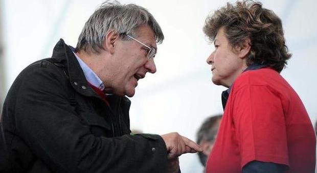 Maurizio Landini e Susanna Camusso (LaPresse)