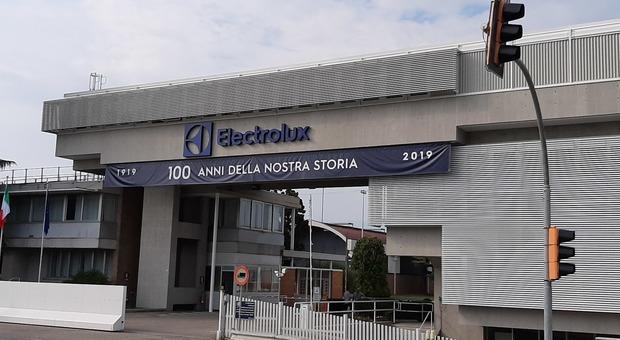 L'ingresso della Electrolux di Porcia