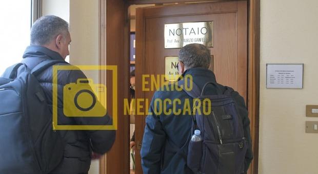 Riccardo Curci e l'avvocato Antonio Schilirò (Foto Meloccaro)