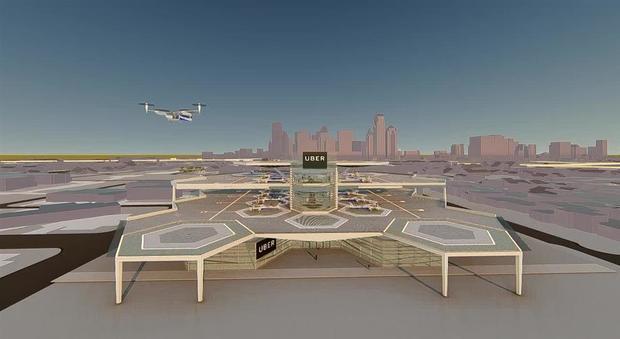 Uber, il secondo dei progetti degli Skyport UberAir