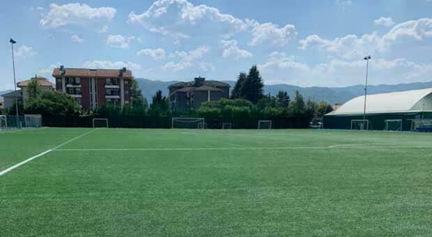Il campo Gudini, sede degli allenamenti e delle partite del Rieti