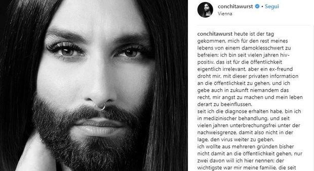 Conchita Wurst rivela: sono sieropositiva da anni, un mio ex ora mi ricatta