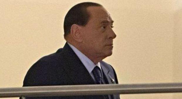Silvio Berlusconi entra al Nazareno