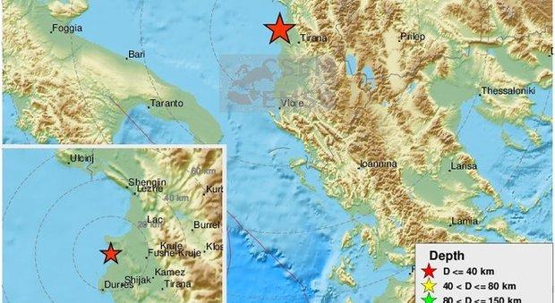 Terremoto in Albania, forte scossa di 5.0 a Durazzo: «Sentita da Tirana fino a Valona»