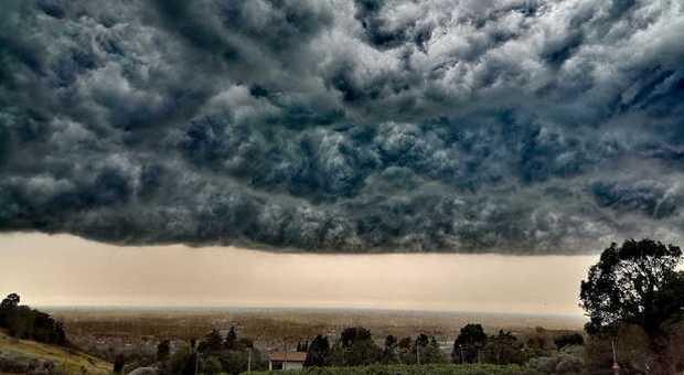 Maltempo, grandine e temporali in Veneto. A Bolzano sgomberato campo scout (Colfosco di Susegana - Treviso, ieri, 26 luglio 2019 - foto di Aferdita Hodaj)
