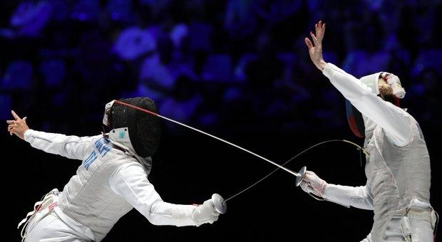 Alice Volpi in azione in finale contro la Russia