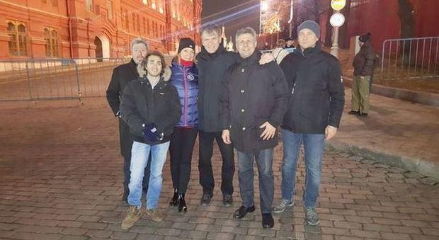Con l'astronauta Paolo Nespoli sulla Piazza Rossa, 12 marzo 2016
