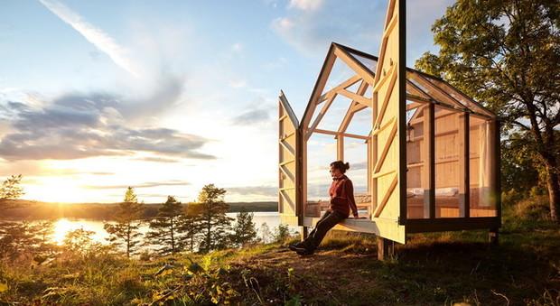 Cabina di vetro a Henriksholm - crediti Anna-Lena Lundqvist/Westsweden.com