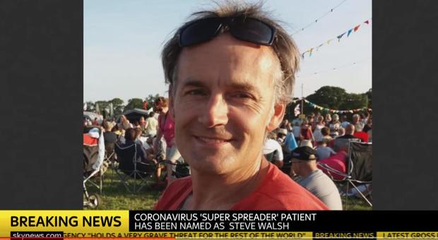 """Steve Walsh, guarito il cittadino inglese super """"untore"""