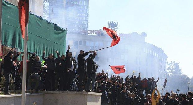 Proteste ni piazza in Albania