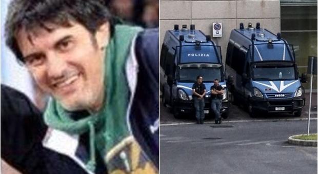 Diabolik, funerali rinviati: forze dell'ordine a Tor Vergata