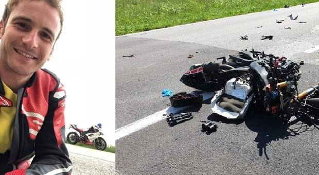 Borso del Grappa. Violento scontro fra un camion e una moto: morto Luca Bontorin, 26enne di Romano d'Ezzelino