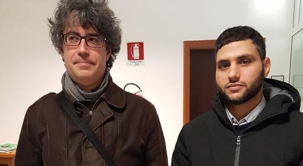 L'avvocato Casarotto con l'imam Hosny Abdelgawad