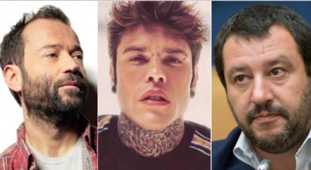 Salvini su Fabio Volo e Fedez: «Due milionari di sinistra, mentre loro facevano soldi io combattevo la mafia a colpi di ruspa»